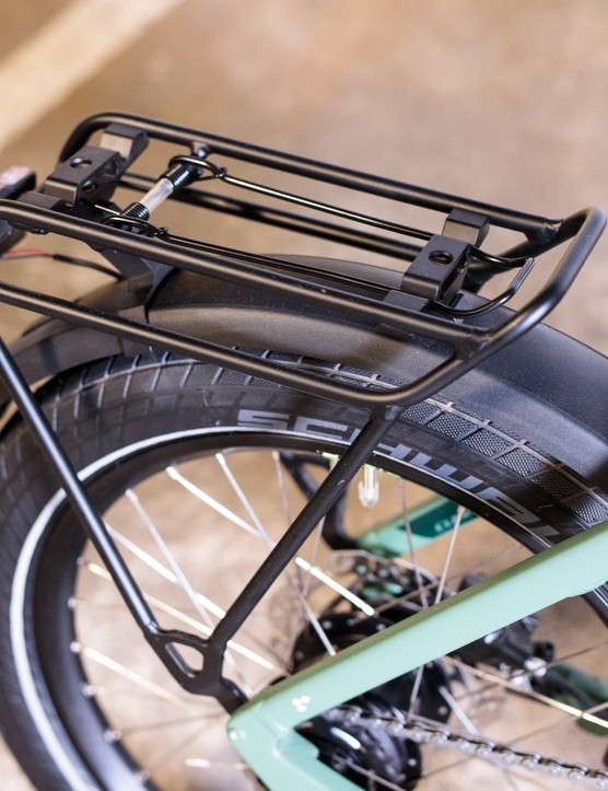 Rear rack with light mounted