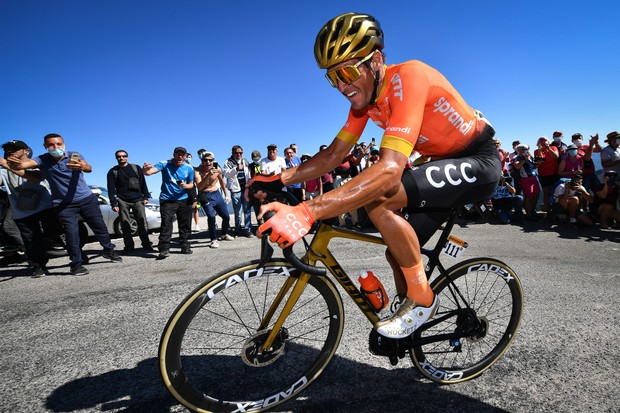 Greg Van Avermaet of CCC Team pictured in action during stage six of the 107th edition of the Tour de France cycling race, from Le Teil to Mont Aigoual (191 km), in France, Thursday 03 September 2020. This year's Tour de France was postponed due to the worldwide Covid-19 pandemic. The 2020 race starts in Nice on Saturday 29 August and ends on 20 September. BELGA PHOTO DAVID STOCKMAN (Photo by DAVID STOCKMAN/BELGA MAG/AFP via Getty Images)