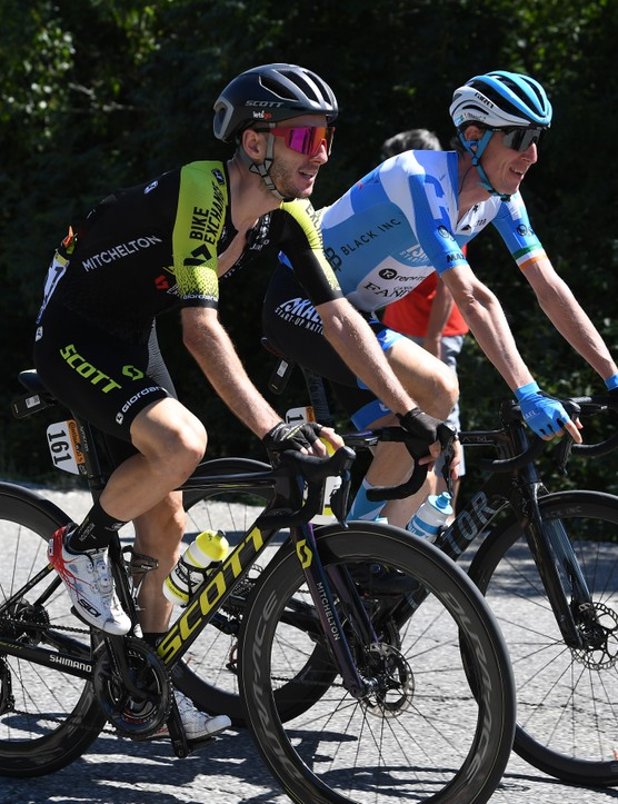 PRIVAS, FRANCE - SEPTEMBER 02: Adam Yates of The United Kingdom and Team Mitchelton - Scott / Daniel Martin of Ireland and Team Israel Start-Up Nation / during the 107th Tour de France 2020, Stage 5 a 183km stage from Gap to Privas 277m / #TDF2020 / @LeTour / on September 02, 2020 in Privas, France. (Photo by Tim de Waele/Getty Images)