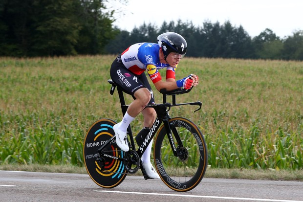 LA PLANCHE, FRANCE - SEPTEMBER 19: Remi Cavagna of France and Team Deceuninck - Quick-Step / during the 107th Tour de France 2020, Stage 20 a 36,2km Individual Time Trial stage from Lure to La Planche Des Belles Filles 1035m / ITT / #TDF2020 / @LeTour / on September 19, 2020 in La Planche, France. (Photo by Michael Steele/Getty Images)