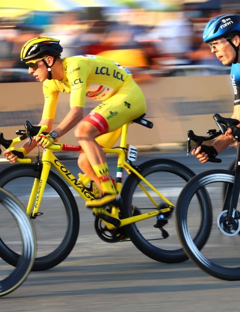 Tadej Pogacar at the 2020 Tour de France