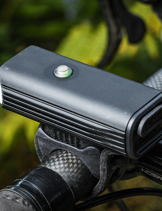 Angled view of the Lezyne Macro Drive 1300XXL front light