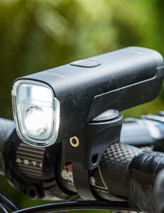 Angled view of the Magicshine Allty 1000 DRL road cycling front light