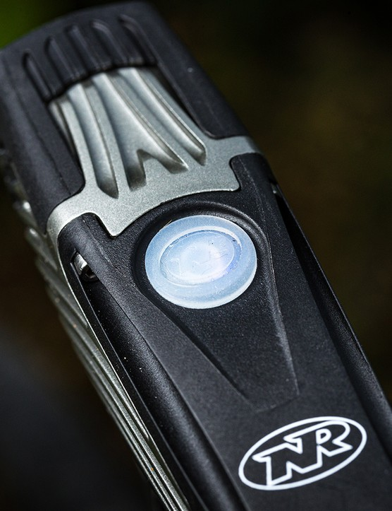 Top view Niterider Lumina 1200 Boost front light for road cycling