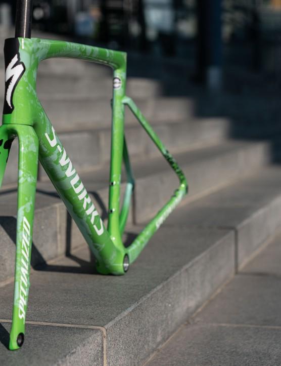 Sam Bennett's custom-painted Specialized Tarmac SL7 for the Tour de France