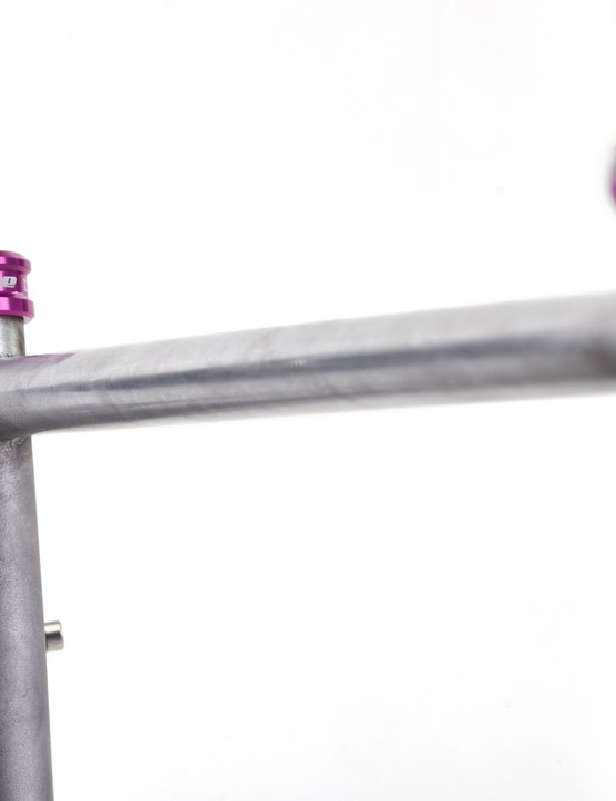 Pink Hope seatclamp on frame