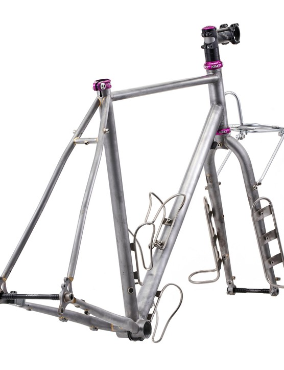 Frameset with cages mounted