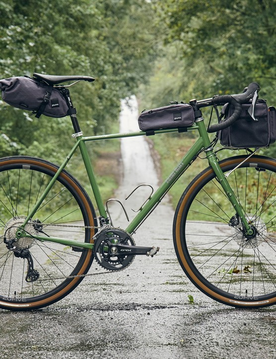 Faran with Gramm bikepacking bags