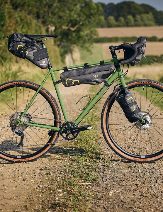 Faran with Apidura bikepacking bags