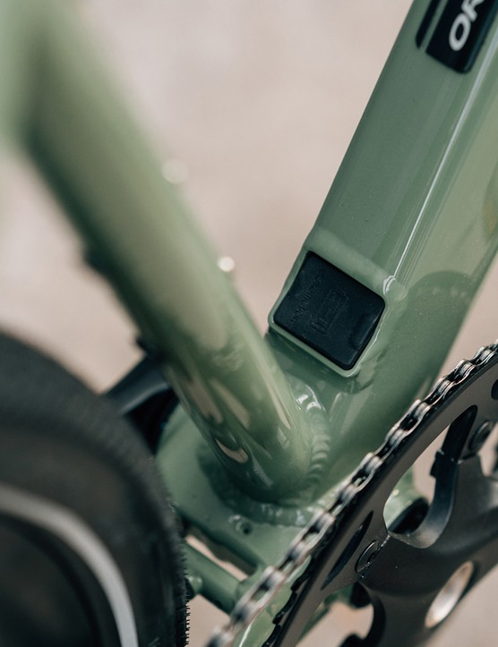 The Orbea Vibe eBike has a 2-piece forged bottom bracket shell