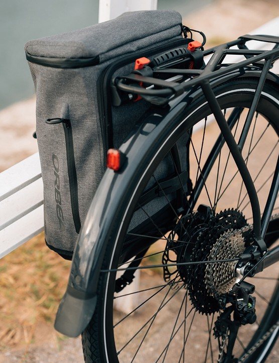 The Orbea Vibe EQ eBike's slimline rack can take up to 15kg of luggage