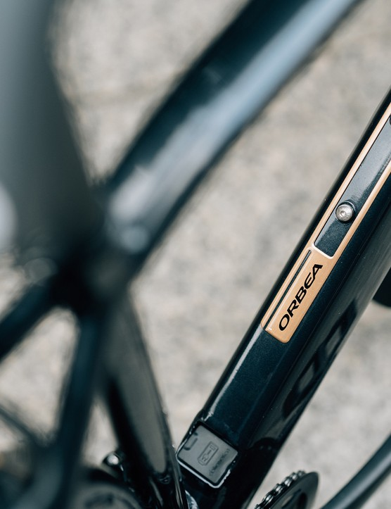 The Orbea Vibe eBike has inserts on the downtube
