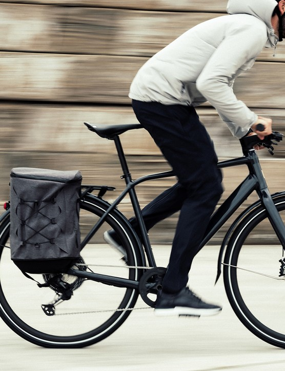 Cyclist commuting on a Orbea Vibe ebike