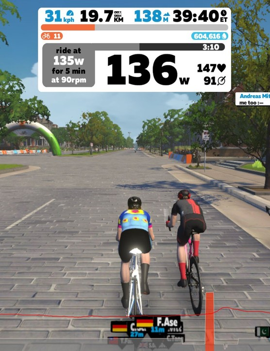 Zwift Academy sprint profile workout