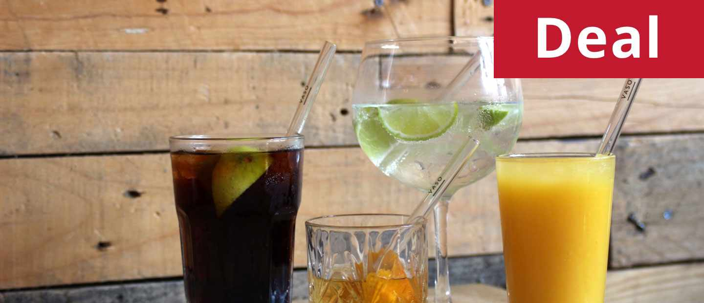 Get a pack of four VASO premium glass straws for just £9.99
