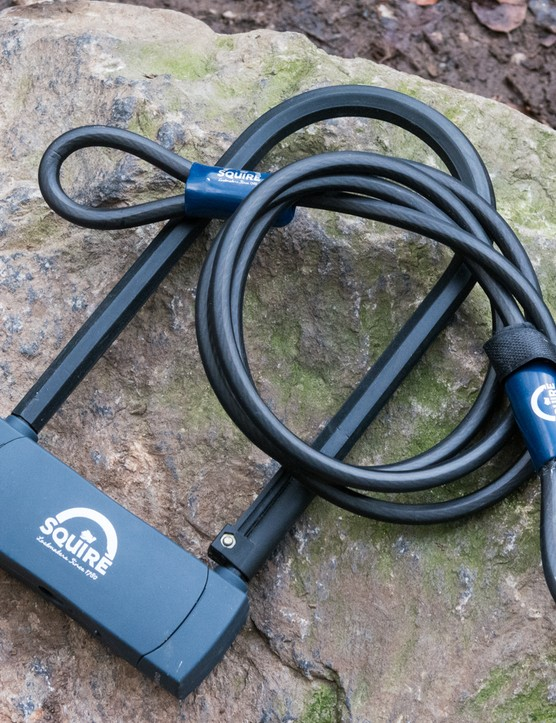 Squire D-lock and cable, how to lock a bike