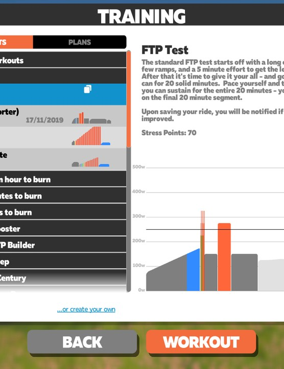 Zwift FTP Test