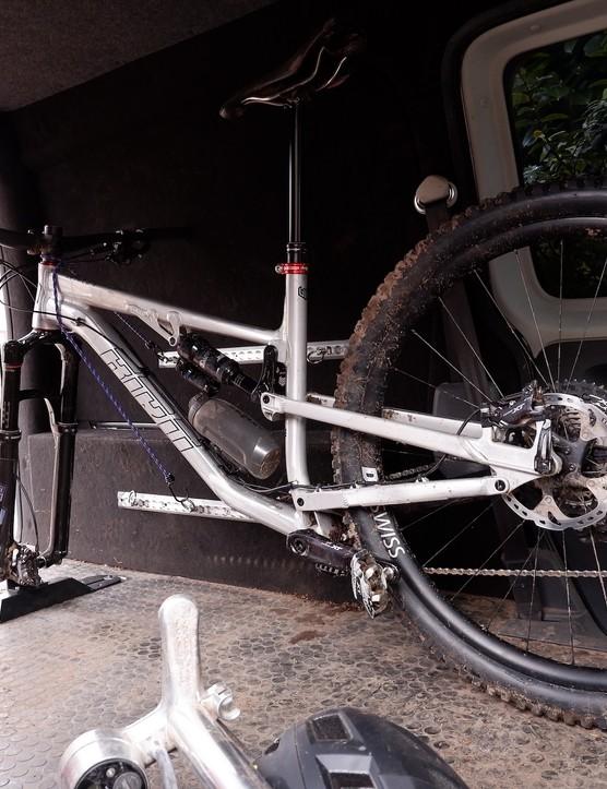 Yeah, my van is messy, but my bike storage is on-point.