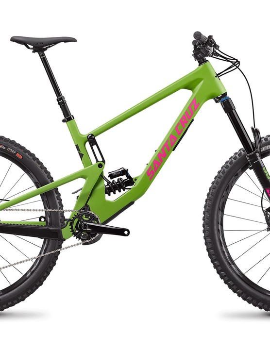 Santa Cruz Nomad C X T full suspension mountain bike with coil rear suspension
