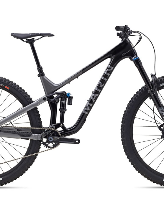 Pack shot of the Marin Alpine Trail carbon 2 full suspension mountain bike