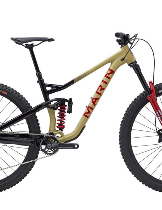 Pack shot of the Marin Alpine Trail XR full suspension mountain bike
