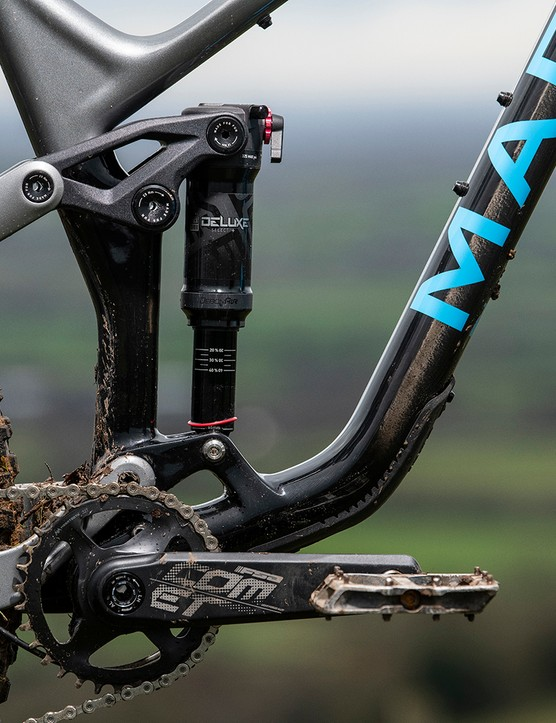 The geometry has been tweaked, but Marin's MultiTrac suspension platform still takes care of the hits