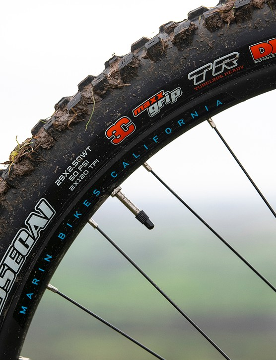 Maxxis Aseggai tyres are found on the entry-level Alpine Trail 7