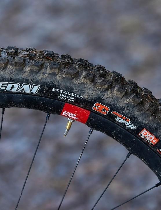 The Maxxis Assegai is an ultra-grippy tyre