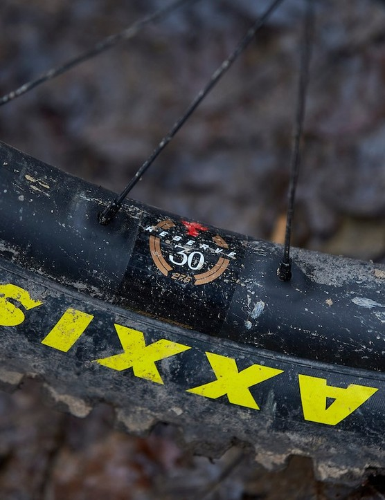 Reserve 30 wheels are used on the Santa Cruz Nomad CC X01 RSV full suspension mountain bike