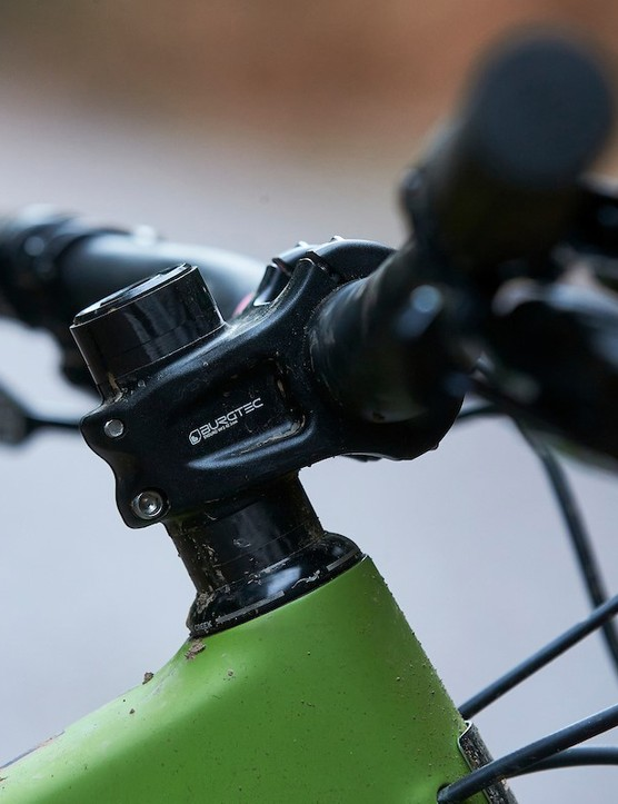 Santa Cruz Nomad CC X01 RSV full suspension mountain bike has a Burgtec's Enduro Mk3 stem