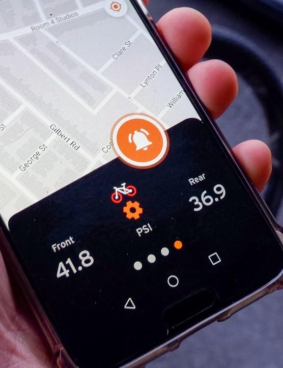 SKS Airspy tyre pressure monitor system app