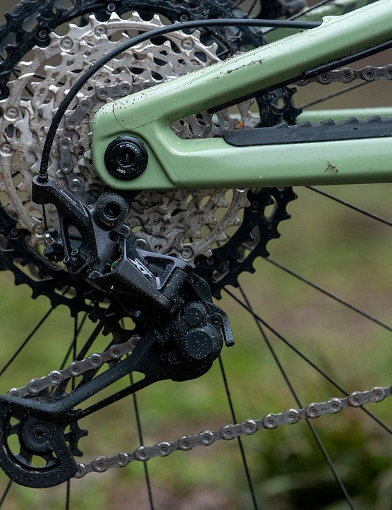 Each of the Nukeproof Giga full suspension mountain bike range have gets a Shimano 12-speed drivetrain