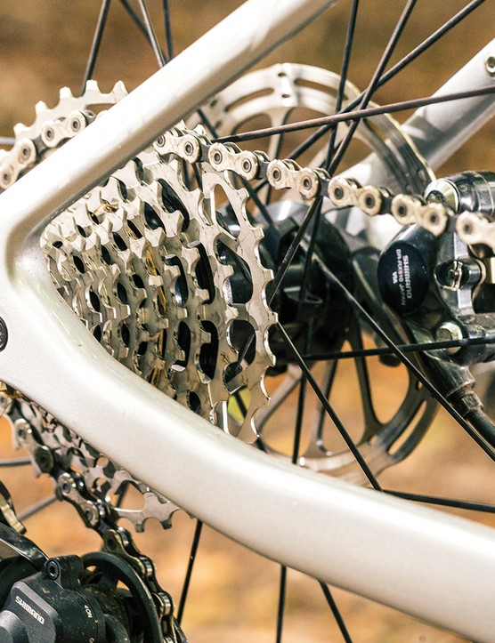 Rear hub and cassette on the Ridley Kanzo Fast GRX Di2 Classified gravel bike
