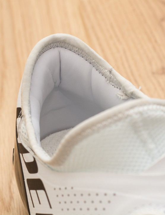 Ankle cushioning in shoe