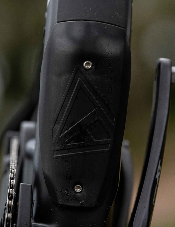 Cover for accessing the frame of the Forbidden Dreadnought XT full sus mountain bike