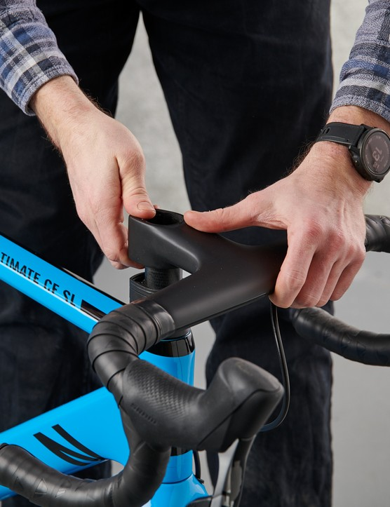 How to assemble a bike, attaching handlebar