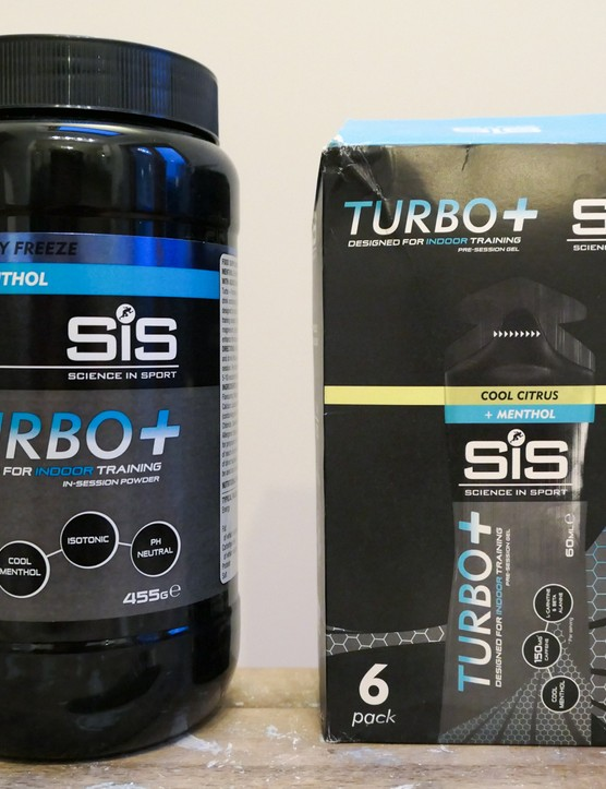 Science in Sport indoor training energy gels and drink