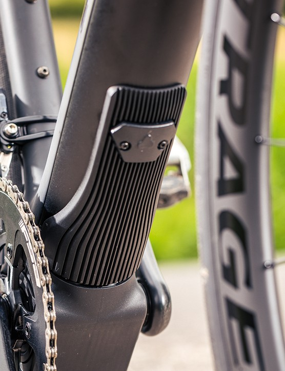 The Fazua Evation 1.0 motor system on the Trek Domane+ LT 7 is situated in the down tube