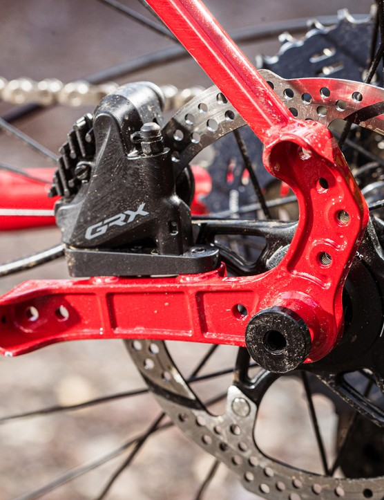 Rear dropout and brake caliper