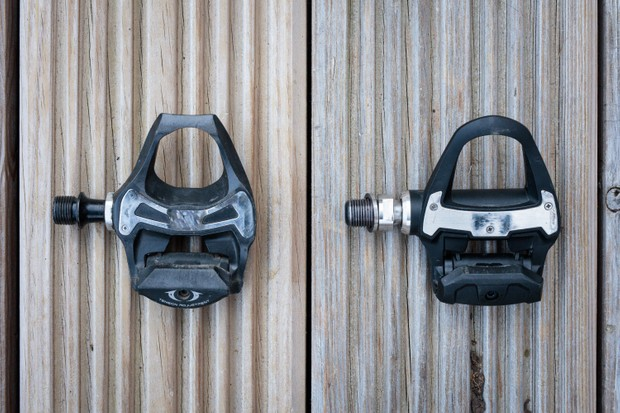 Shimano SPD-SL pedal and Garmin Rally RS200 pedal