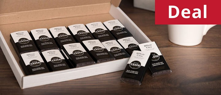 80 Noir Ultra Multi Award Winning Dark Chocolate - Box of 20 Bars