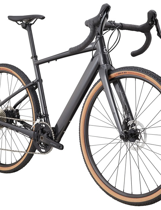 Pack shot of the Cannondale Topstone Neo SL 2 gravel eBike