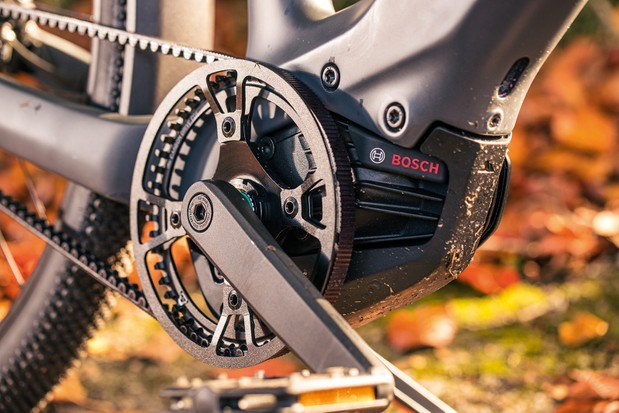 The Canyon Precede ON CF 9 ebike is fitted with the Bosch Performance Line CX (Gen 4) motor