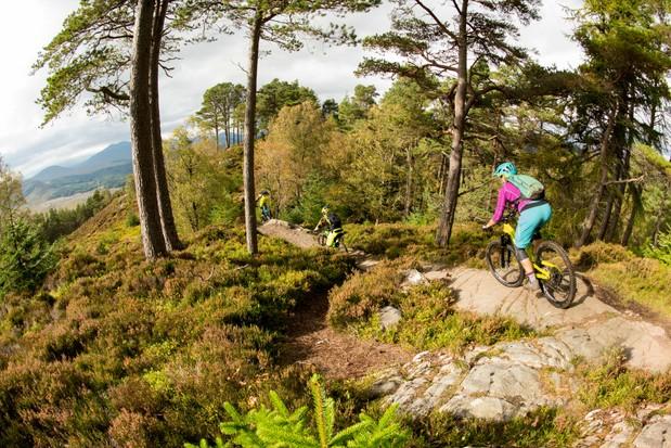 Laggan Wolftrax trails in Scotland