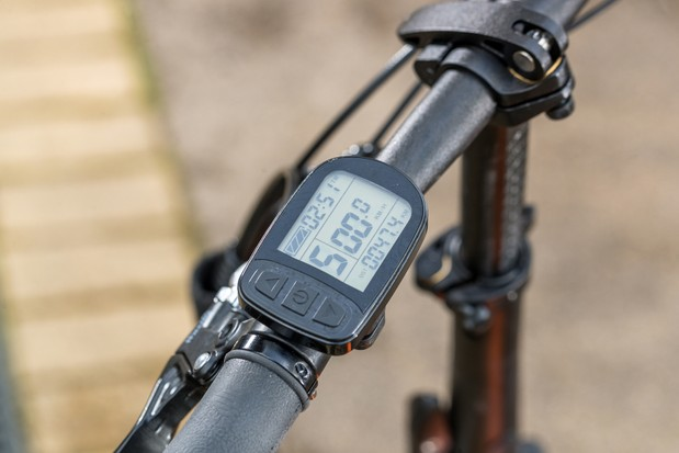 The MiRider One control unit sits on the handlebar