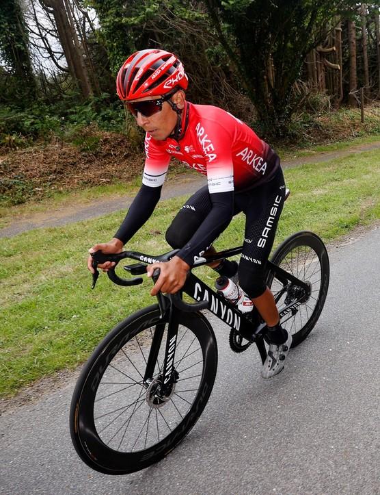 Nairo Quintana on 2021 Tour de France training ride with Canyon Aeroad