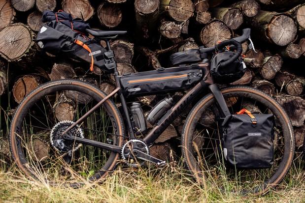 Ortlieb bikepacking bike and bags