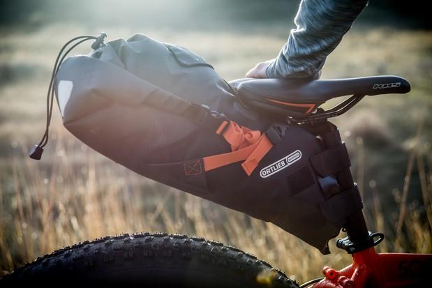 Ortlieb saddle pack for bikepacking