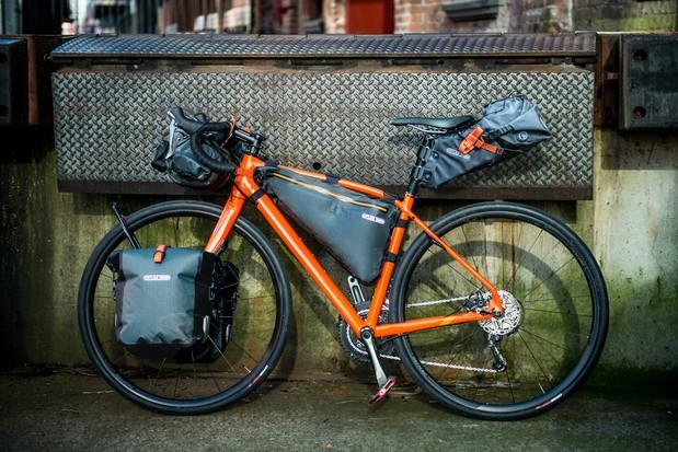 Ortlieb frame pack for bikepacking