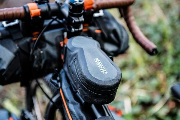 Ortlieb top tube bag for bikepacking